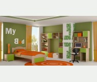 ΚΥΜΑ ΔΡΥΣ ΠΡΑΣΙΝΟ -  Κρεβάτι μονό για στρώμα 90 χ 190